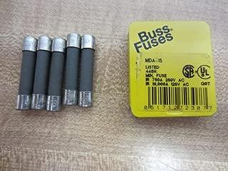 Bussmann MDA-15 15 Amp Time Delay Ceramic Tube Fuse 250V Ul Listed 5-In Tin (5-Pack),