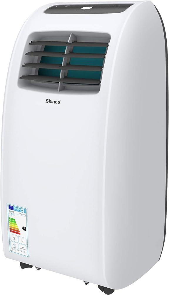 Condizionatore d`aria portatile shinco, 2050 w, 7000 btu, sistema autoevaporante, ottimo per ambienti di 25 mq B0837Q36ZY