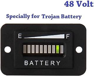 SEARON 36/48 Volt LED Battery Indicator Meter Gauge Made Specifically EZGO Golf Cart/Trojan Batteries
