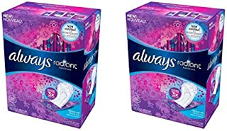 Always Radiant Pantyliners, Regular, Unscented, 48 Count, 2 Pack. (Includes 96 Pantiliners Total.)