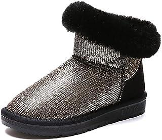 97872b2ee561 Fay Waters Snow Boots Crystal Women Winter Flat Anti-Slip Slip On Warm  Plush Lined