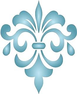 Fancy Fleur de Lis Stencil - (size 6.5