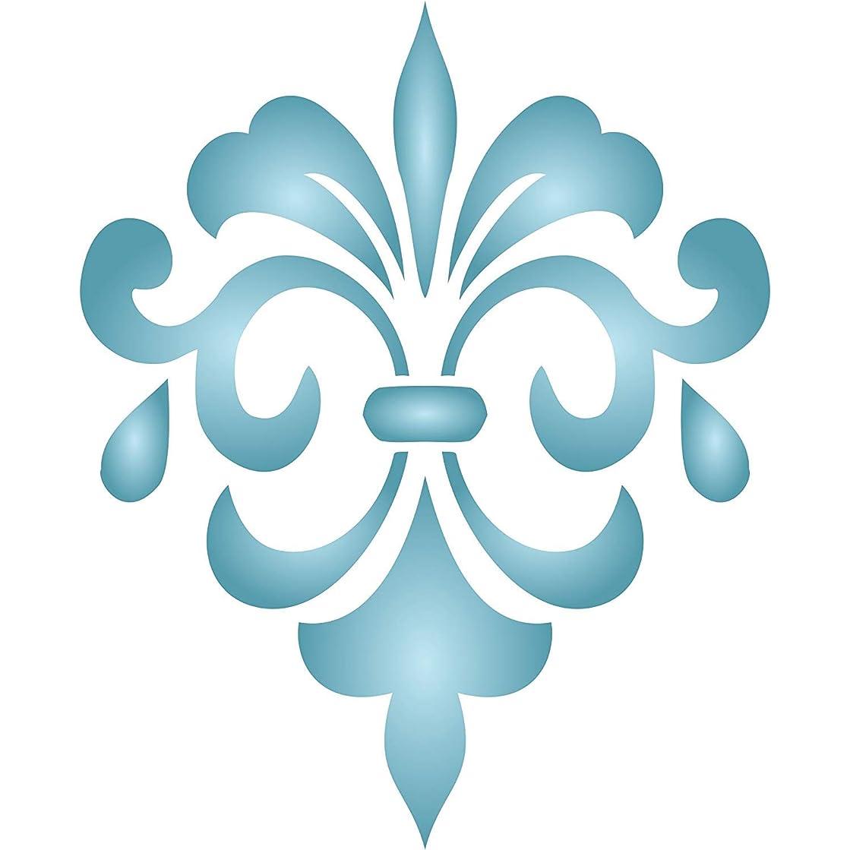 Fancy Fleur de Lis Stencil - (size 10.5