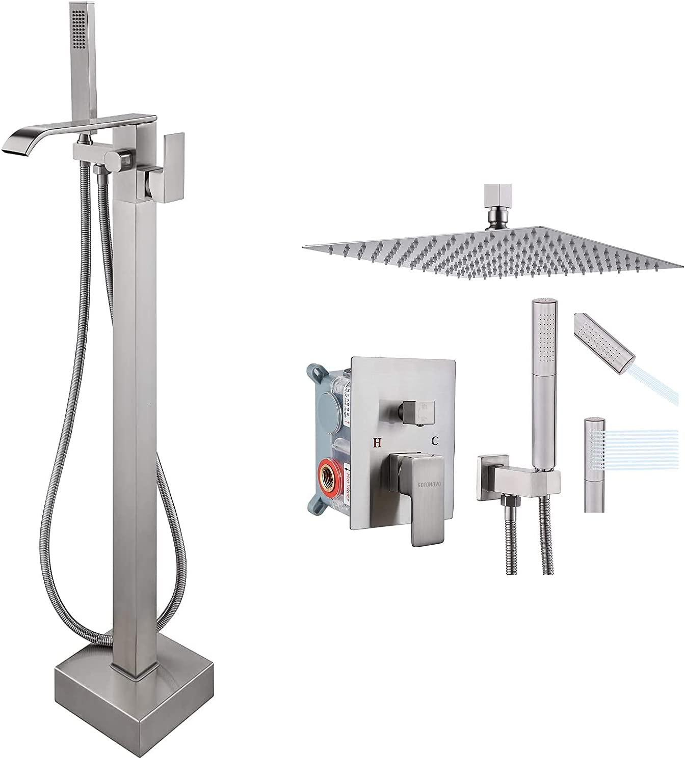 Waterfall Freestanding Bathtub Free Shipping New Faucet Floor Handle Single Mount Indianapolis Mall