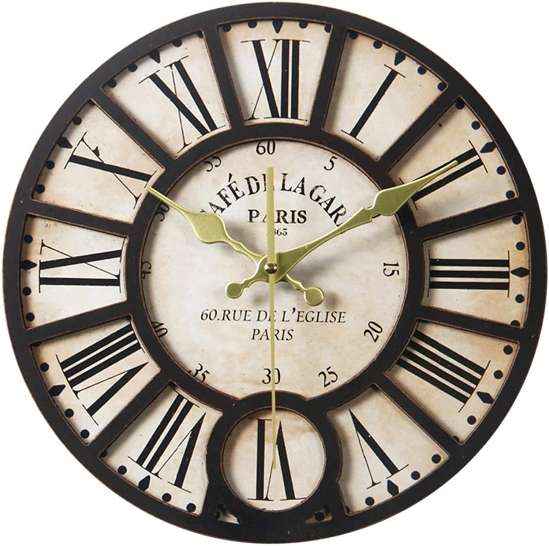mejor oferta YF-Clock Gran número Romano de Cuarzo Reloj de Parojo Parojo Parojo - Barrido silencioso sin tictac Decorativo Antiguo Vintage Retro Estilo rojoondo Reloj de Madera para Regalo (Color    3, Tamao   Diameter 34CM)  Ven a elegir tu propio estilo deportivo.