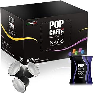 POP Caffè Naòs Deciso Espresso Kapseln   Box mit 100 Kaffee Kapseln   Charaktervoller Espresso   Kompatibel mit Nespresso Kaffeemaschinen