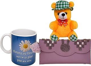 Saugat Traders Gift for Sister - Soft Toy, Women's Wallet & Coffee Mug - Gift for Sister-Rakhi Gift-Rakshabandhan-Birthday...