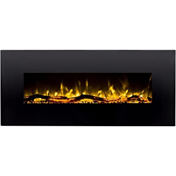 Regal Flame Denali Black 60 Log, Pebble, Crystal, 3 Color Heater Electric Wall Mounted Fireplace Better Than Wood Fireplaces, Gas Logs, Fireplace Inserts, Gas Fireplaces, Space Heaters, Propane