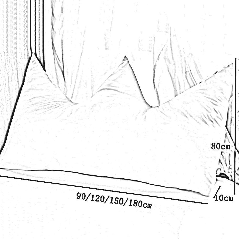 MJK Triangular Wedge Cushion, Coussin de dossier de lit, Dossier de lit de couronne pour lit d'enfant Simple lit coussins de taille Sac de couchage princesse, coton lavable, amovible et lavable (mult