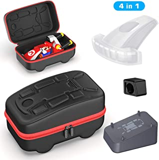 Accessories Kit Bundle Compatible with Nintendo Switch Mario Kart Live, OIVO Kart Case, Kart Mount Holder, Kart Head Cover...