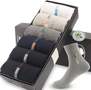 HSF Simples de algodón Absorbente Calcetines del Tubo del Negocio del algodón pegan la Desodorante Hombres Calcetines (Color : C)