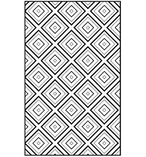 TINE Anti-Skid Tapijt Woonkamer Tapijt Pad Vloerbedekking Zwart Wit Geometrische Tapijt Mat voor Slaapkamer Kids Kamers Decor Modern Decoratief Modern Ontwerp