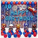 72 piezas Decoracion cumpleaños Super Heroes, Globos Cumpleaños super heroes , kit de Cumpleaños super heroes, Suministros de Fiesta Temáticos de Superhéroes, globos latex super heroes