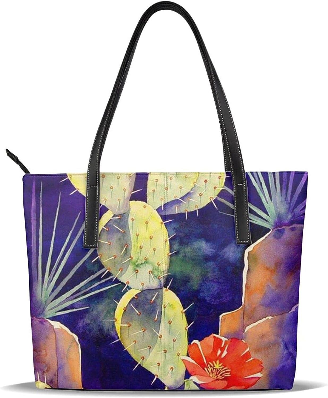 Beautiful Cactus Women's Tote Our shop New Shipping Free Shipping most popular Handbag Bag Top Shoulder Hand