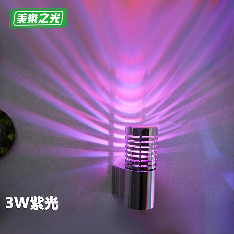 Modern LED Wandleuchte Led wandleuchte kreative schlafzimmer nachttischlampe wohnzimmer gang flur balkon aluminium wandleuchte hoch 14 cm durchmesser 6,8 cm von der wand 9 cm lila licht