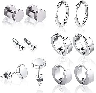 mens black huggie earrings