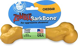Pet Qwerks Zombie BarkBone, Cheddar Cheese Flavor - Nylon Chew Toy for Aggressive Chewers, Tough Durable Extreme Power Che...