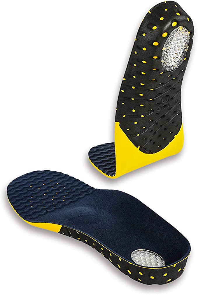 Plantar Fasciitis Insoles for Men and Women, Small Size Adaptable Hard Arch Support Shoe Inserts, 1 Pair of Orthotic Shoe Insoles for Flat Foot Pain Relief, EVA Athletic Gel Insoles for Work Boots