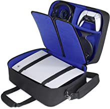 GamerTek PS5 Carrying Case Compatible with PS5, Travel Bag Holds Playstation 5 Console, DualSense Controllers, Cables and ...