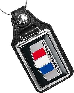 2016 Compatible With Chevy Compatible With Compatible With Compatible With Camaro Red White Blue Emblem Design Keychain Key Holder Key Ring For Men Heavy Duty Car Keyring For Men and Women🗝️