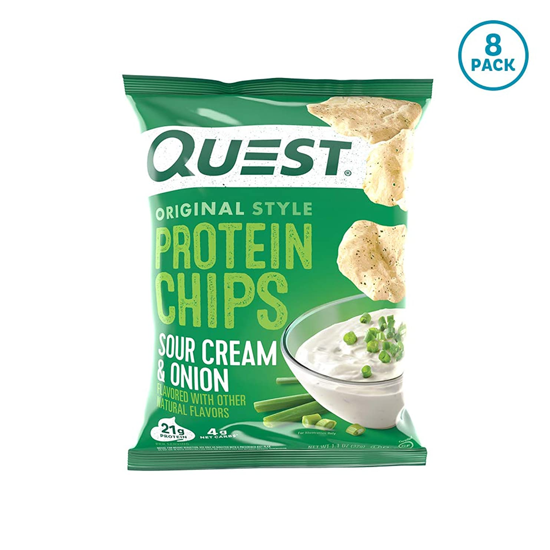 肌一才能のあるプロテイン チップス サワークリーム&オニオン フレイバー クエスト 8袋セット 並行輸入品 Quest Nutrition Protein Chips Sour Cream & Onion Pack of 8 海外直送品