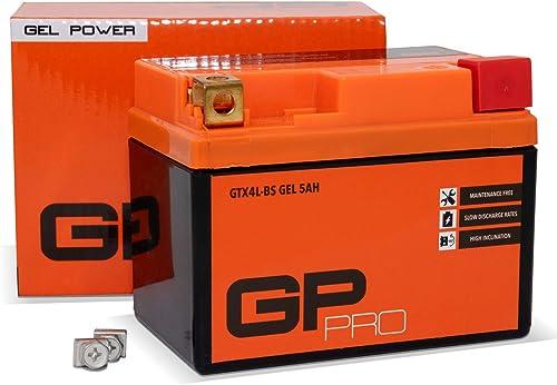 GP-PRO Gel Battery 12V 5Ah GTX4L-BS (similaire à YB4L-B / YTX5L-BS / YTX4L-BS)