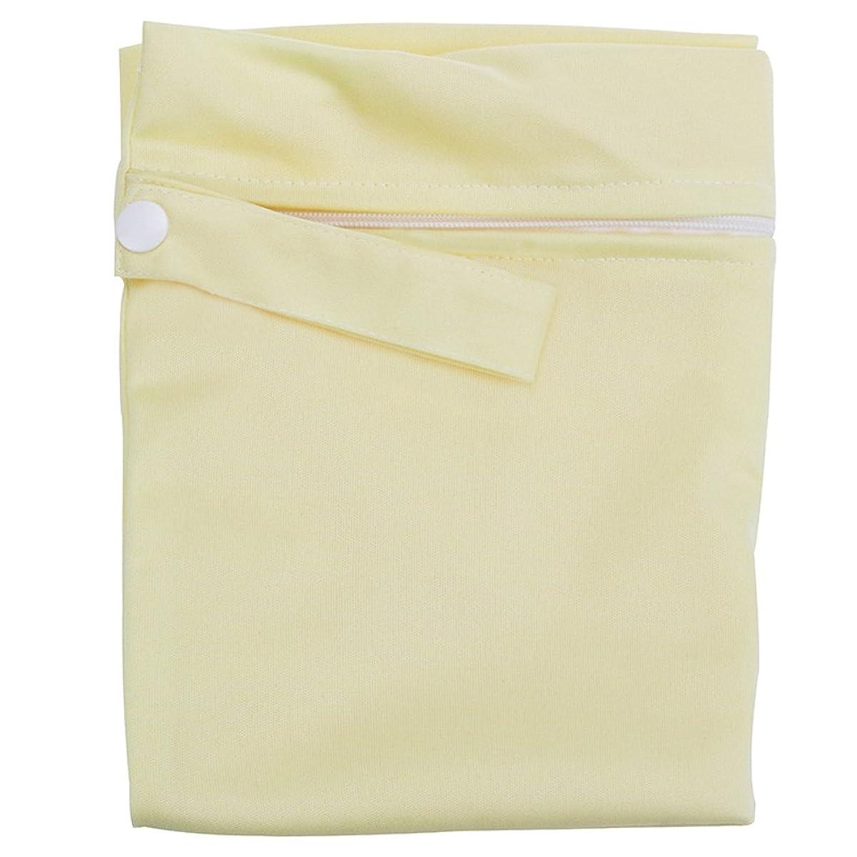 武器文庫本ママKINDOYO ウェットバック(防水バッグ) 可愛い オムツ?おしりふき?着替え?タオル?水着?お風呂用品 (ベージュ)