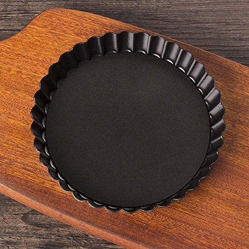 Antihaft-rund klein aus Flan/Quiche Pfanne, abnehmbarer lose unten Pizza Kuchen Backen Pie Pfanne-2Größe für Wählen 20 cm Wie abgebildet