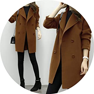 Coat Women Long Sleeve Turn-Down Collar Outwear Jacket Casual Winter Elegant Overcoat