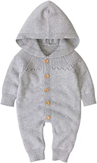 0-24 Monate Winter Neugeborene M/ädchen Jungen Warme Strickpullover Strampler Overall Outfits DWQuee ❤️ Baby Strickoverall