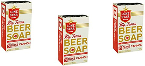 Duke Cannon Supply Co. Lone Star Beer Big Texas Beer Soap ~ 10 oz ~ 3 pack