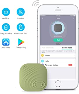Key Finder, Wonbo Anti-Lost Bluetooth Tracking Locator for Keys, Phones, Wallets, Bags with APP Control Compatible with iOS & Android (Green)