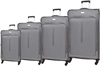 Track Luggage Trolley Bags 4 Pcs Set, Grey