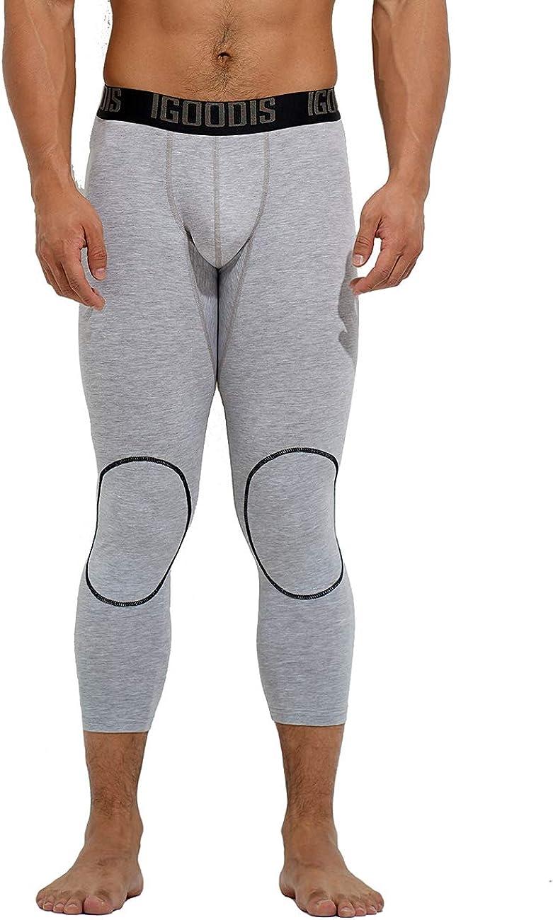 DESMIIT Men's U-Pouch Cotton Soft Nine-Tenths Long Johns Thin Underwear