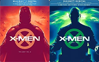 Comic X Trilogy Steelbook Limited Edition Vol. 1 & 2 6 Movie X2 / Last Stand + X-Men: First Class Days of Future Past and Apocalypse