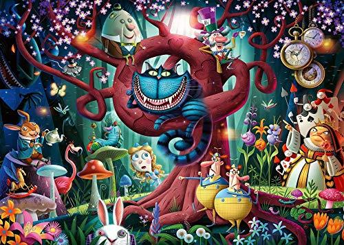 72Tdfc 3D Puzzles 1000 Piezas Adultos Rompecabezas De Madera Pintura Al Óleo Abstracta Animación Que Niños Y Adolescentes Aprendan Juguetes Educativos/ Alicia En El País De Las Maravillas
