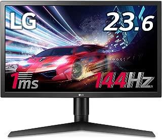 【Amazon.co.jp 限定】LG ゲーミング モニター ディスプレイ 24GL650-B 23.6インチ/1ms,144Hz/フルHD/TN非光沢/FreeSync/HDMI×2,DisplayPort/ピボット、高さ調節対応