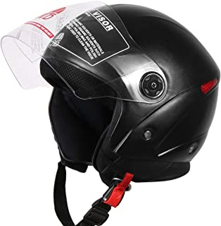 JMD HELMETS OPEN FACE BLACK Helmet