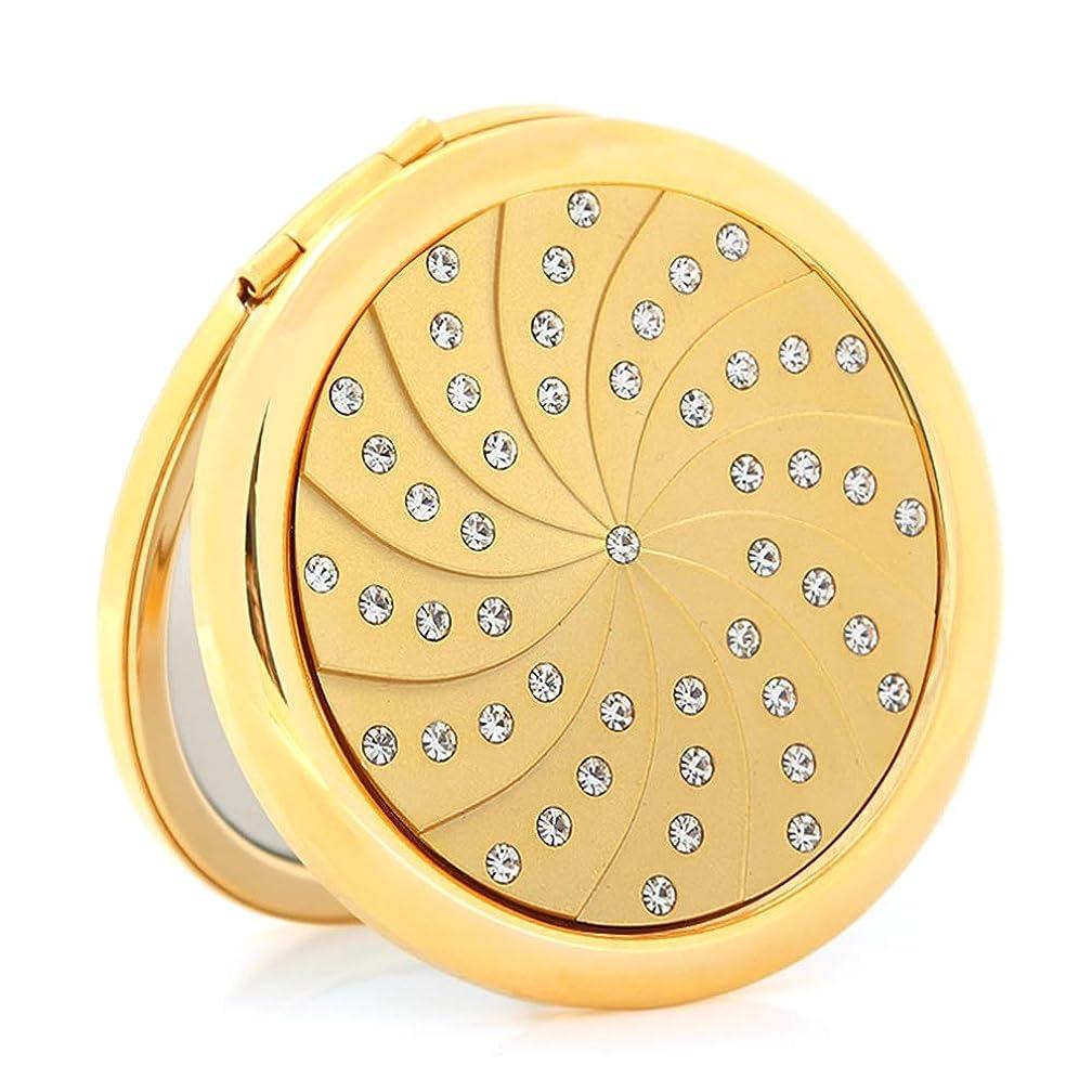プレビューこどもの日歪める流行の 金メッキダイヤモンド小さなミラーポータブル折りたたみ両面ポータブルミラーパーソナライズされた誕生日プレゼント
