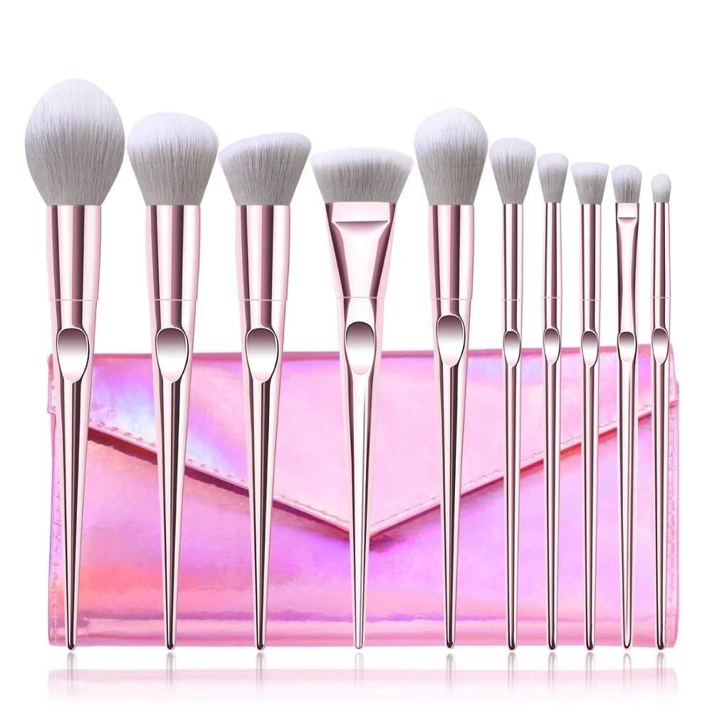 Makeup brushes set 10pcs Max 42% OFF makeup face powder Fixed price for sale eyeshado for