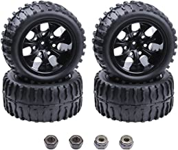 Hobbypark 4PCS 12mm Hub RC Wheels and Tires with Foam Inserts for 1:10 Off Road Monster Truck Tyre