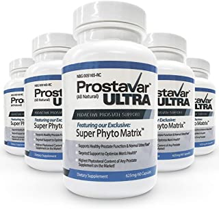 5 Bottle New Improve From Maker of Original Prostavar Ultra Prostate Support 600mg 90% Beta-Sitosterol & 320mg Saw Palmetto + Grape Seed Extract