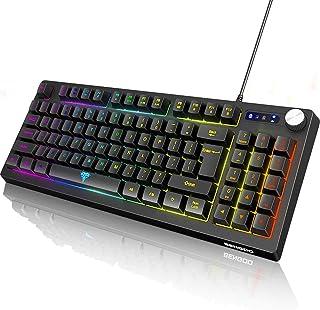 BENGOO Gaming Keyboard, RGB LED Rainbow Backlit Small Gaming