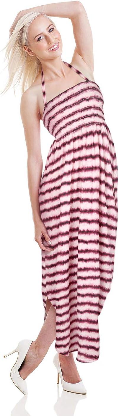HDE Maxi Dresses for Women - Long Dress Halter Side Split Summer Dress