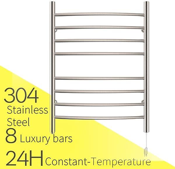 HEATGENE 毛巾加热器 8 Bar 插在弧形浴巾加热器刷