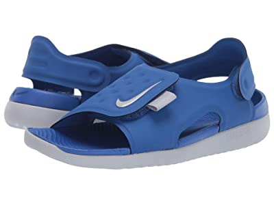 Nike Kids Sunray Adjust 5 (Little Kid/Big Kid) (Game Royal/Wolf Grey) Boys Shoes