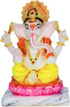 Fabzone Lord Ganesha Marble Dust Idol Ganpati God Ganesh Home Decor Statue - Religious Murti Pooja Gift Item - 15 cm (Mult...