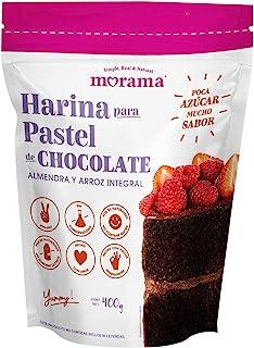 Morama, Harina para Pastel sabor Chocolate hecha con harina de almendra y arroz integral para pastelería, sin conservadore...