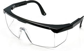عینک ایمنی WOOLIKE با لنزهای ضد مه عینک های صنعتی با قابلیت تنظیم شهرت محافظ عینک محافظ UV400 (قاب مشکی
