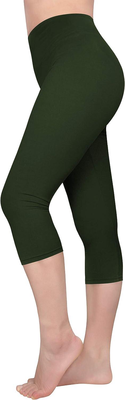 Zando Plus Size Capri Leggings for Women Tummy Control Workout Capris High Waisted Summer Leggings Lightweight